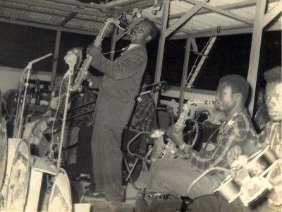 E.T.Mensah and The Tempos performing at a club, 1955.