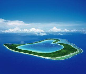 空に浮かぶハートの島