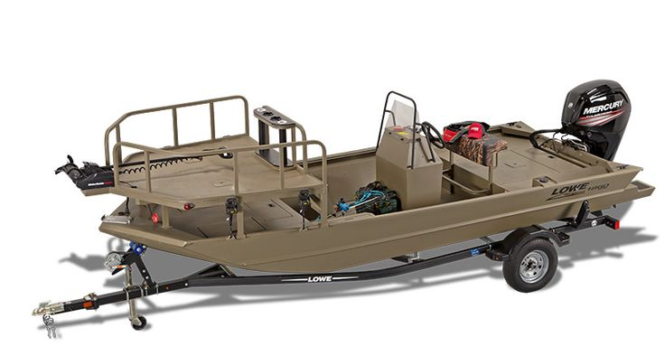 Lowe Roughneck 1860 Archer bowfishing and bow fish boat features a huge bow shooting deck and bow fishing platform to deliver ample room to fire away.