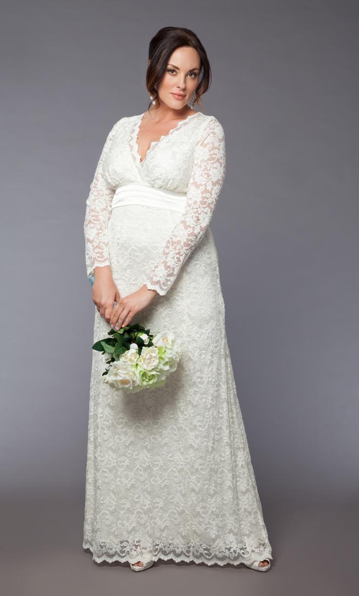 Plus size bridal dress to turn heads in... the Analisa Long Wedding Dress! #plussize #kiyonna