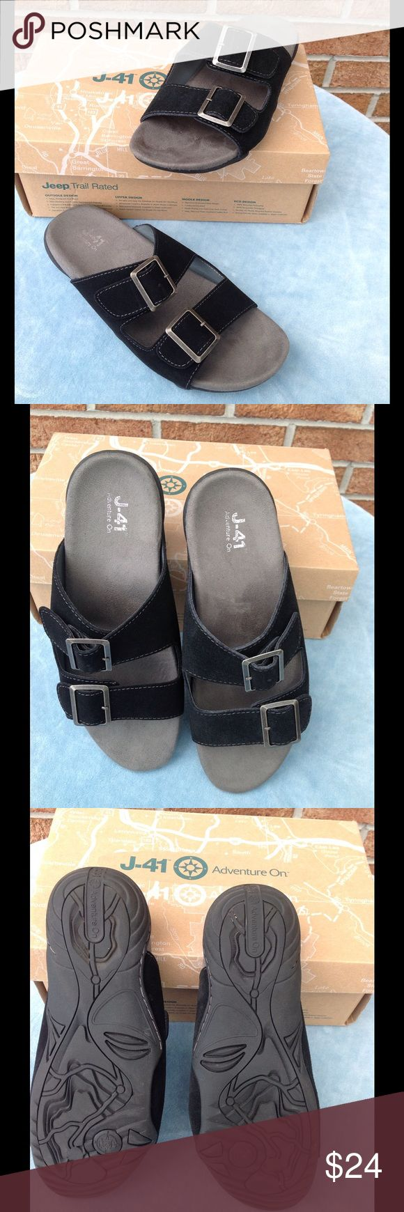 J-41 Jeep Sandals NIB Size 8 NIB J-41 Jeep sandals. Black suade.  Size 8. J-41 Shoes
