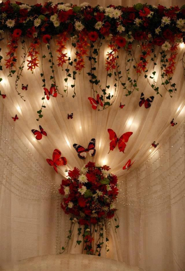 Butterfly Wedding Decor - a little over the top but cute!