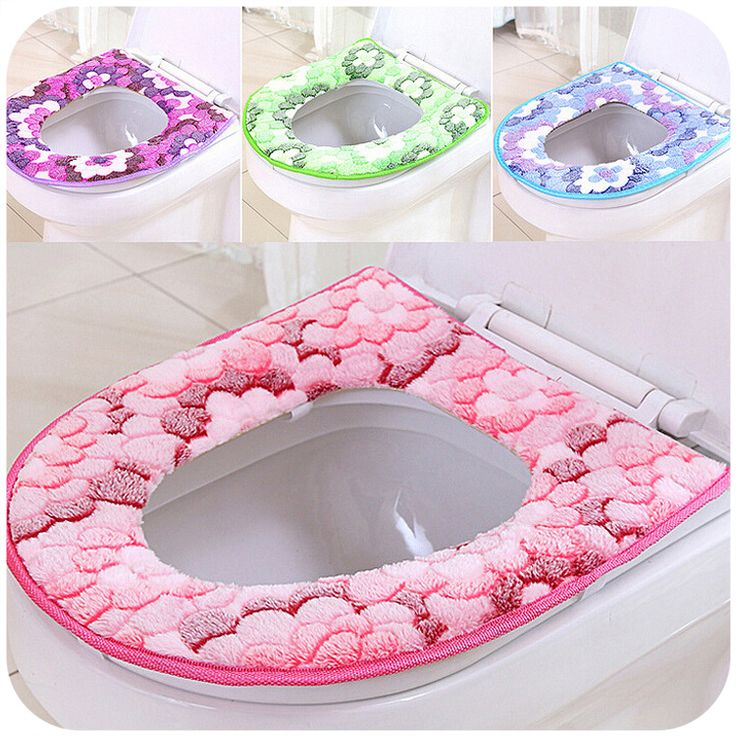 1pcs Hot Selling Winter Flocking Toilet Seat Cover Multi Color O Closestool Mat Padded