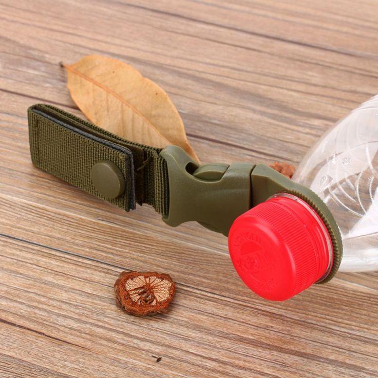 Al aire libre Senderismo Portátil EDC Táctico de Nylon Correas de la Hebilla de Gancho de Clip de Soporte Para Botellas de Agua