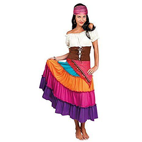 Erwachsenenkostüm Zigeunerin Nadya mehrfarbig