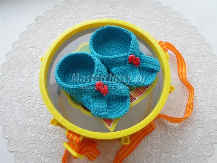 пляжные пинетки для малыша. Мастер-класс с пошаговыми фото