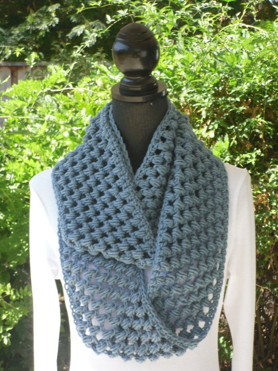 Crochet Infinity Scarf - Picture Idea: Pictures Ideas, Infinity Scarfs Lovin, Cuellos, Color, Scarfs Cadet, Patterns Cluster, Picture Ideas, Neck Warmer, Crochet Scarfs