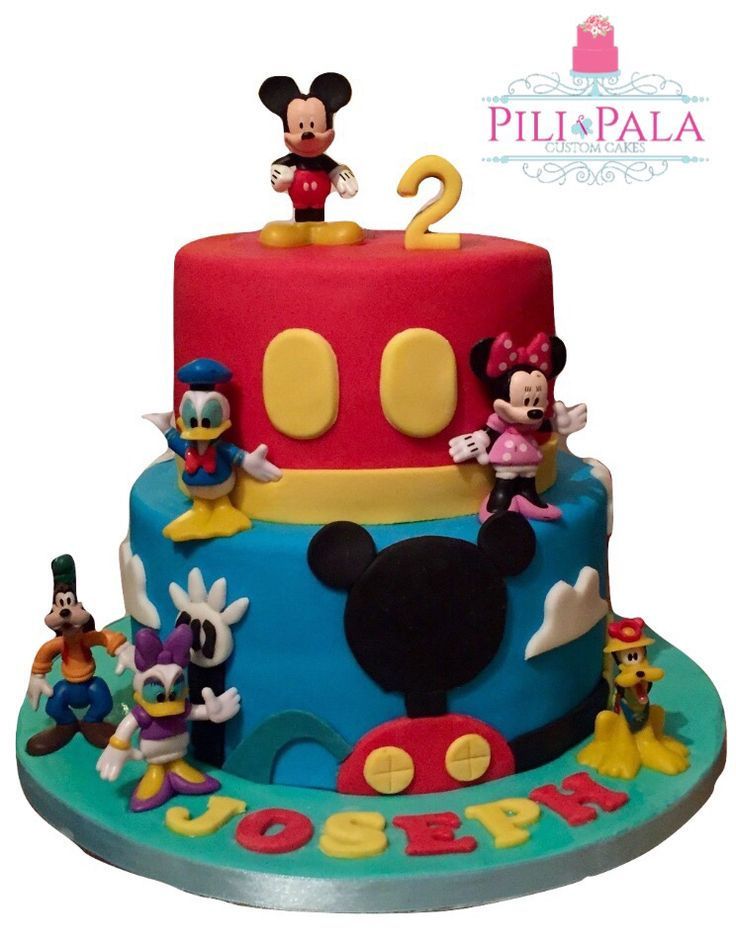 Mickey Mouse and friends 2nd birthday cake
