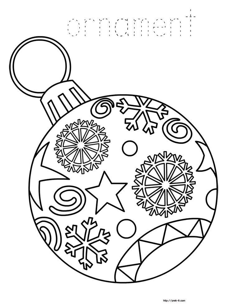 ornaments free printable Christmas coloring pages for kids