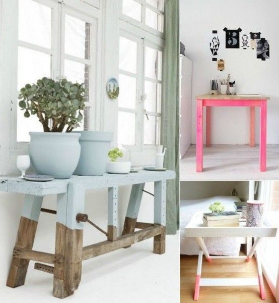The Latest Decor Trend: 28 Exciting Half-Painted Furniture Pieces - DigsDigs