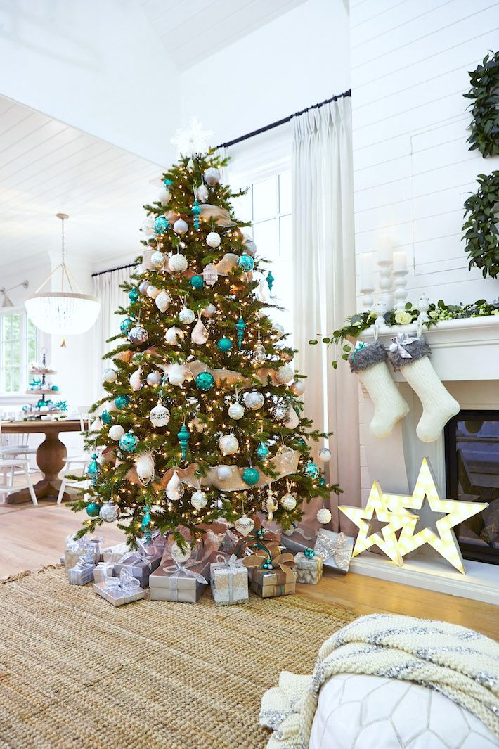 White & Teal Christmas | lark & linen