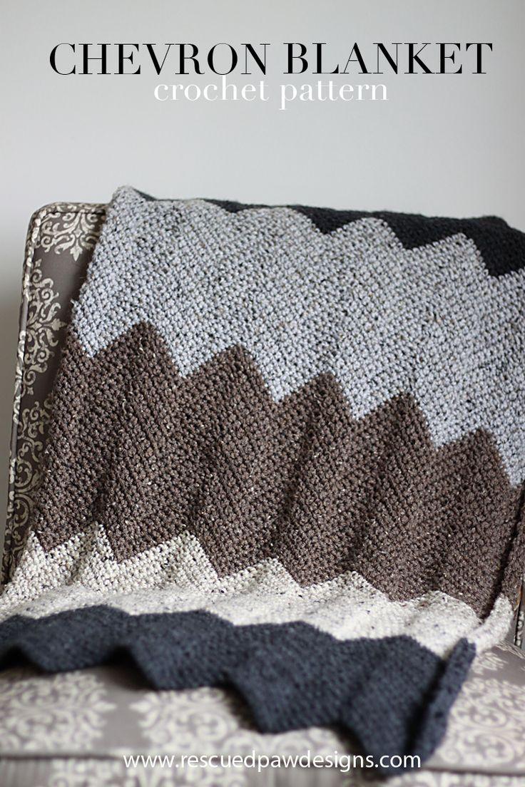 36 best knitting images on pinterest knitting knit crochet and neutral chevron crochet blanket pattern bankloansurffo Images