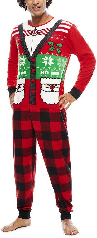 Asstd National Brand Ugly Sweater Santa Union Suit