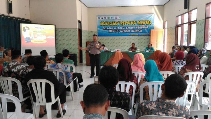 Dukung Indonesia Literasi Satbinmas Polres Trenggalek Gelar Smart Reading