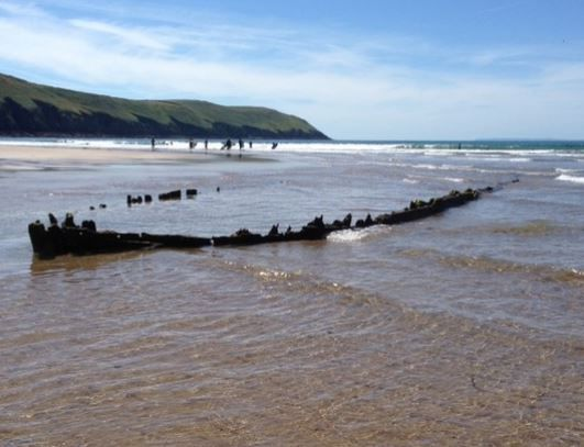 Putsborough Sands Shipwreck | North Devon Beaches | Smythen Farm Holiday Cottages Woolacombe
