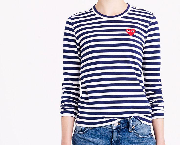 5 locuri de unde îți poți lua tricouri cu dungi puține și bune