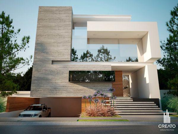 Olivos house by creato arquitectos via behance r e n for Departamentos minimalistas fachadas