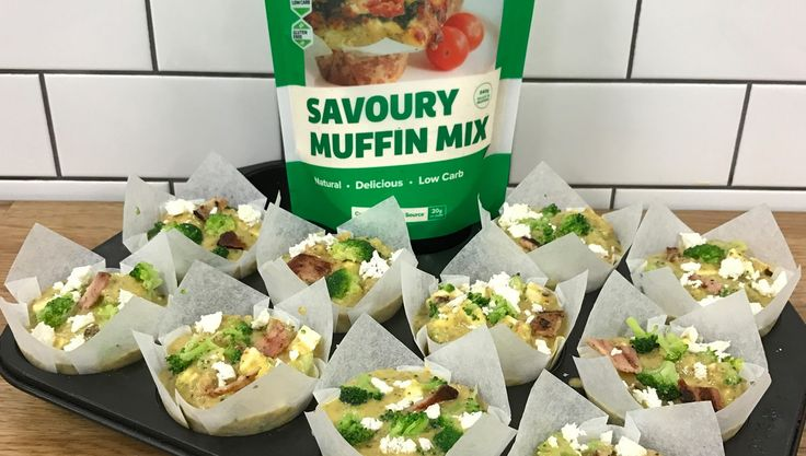 Cheesy Broccoli and Bacon Savoury Muffins | The Protein Bread Co : The Protein Bread Co