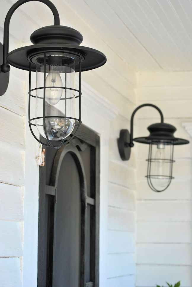 Porch lighting - love these!  LaurieAnna's Vintage Home: Farmhouse Friday #5 ~ Farmhouse Porch