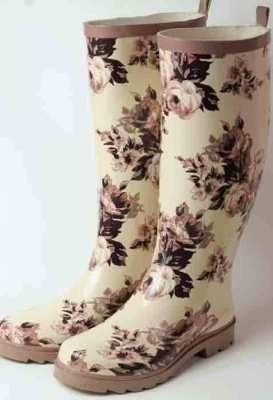 Victorian Floral Rain Boots