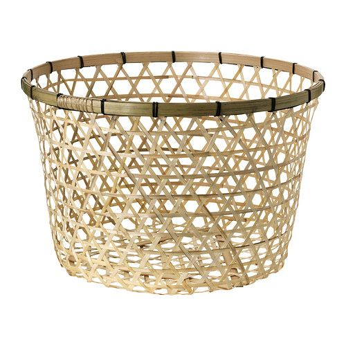 HÖJDARE Basket IKEA Each basket is woven by hand and is therefore unique. - this would be great for yarn storage