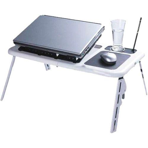 Mesa para Notebook com 2 Coolers Portátil Dobrável LD09