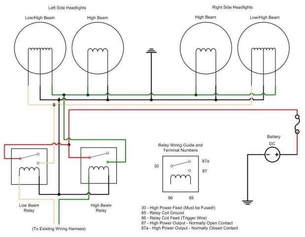 16 headlight car wiring diagram  car diagram in 2020  car