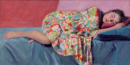 """Orientaalse muse"" 140x70 cm. Oil on board. model painting by Carolien van Olphen"
