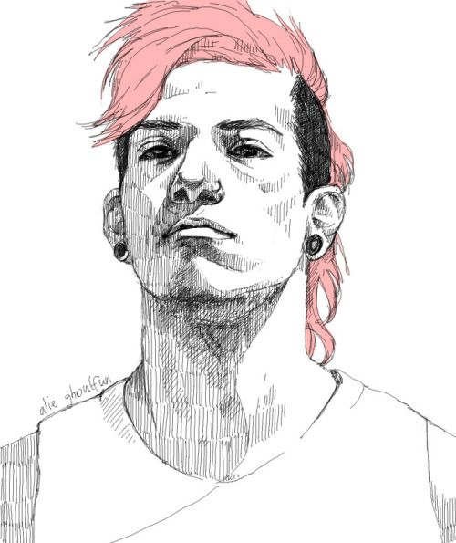 Josh Dun pink hairPinterest //  @toppespective
