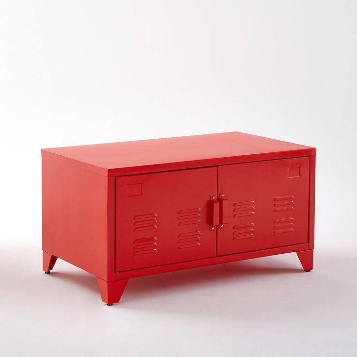 Тумба металлическая Hiba La Redoute Interieurs : цена, отзывы & рейтинг, доставка. Металлическая двухдверная тумба Hiba. Отлично подойдёт для хранения Ваших вещей в прихожей, детской комнате или в Вашем кабинете. Описание:- 2 дверцы.- 4 ножки, регулируемые по высоте.- Отлично сочетается с двухдверным шкафом Hiba.Откройте для себя также другие модели из коллекции Hiba на laredoute.ru.Характеристики:- Металл, лакированное покрытие. - Металлические ручки.Размеры:Общие:- Длина: 85 см.- Глуби...