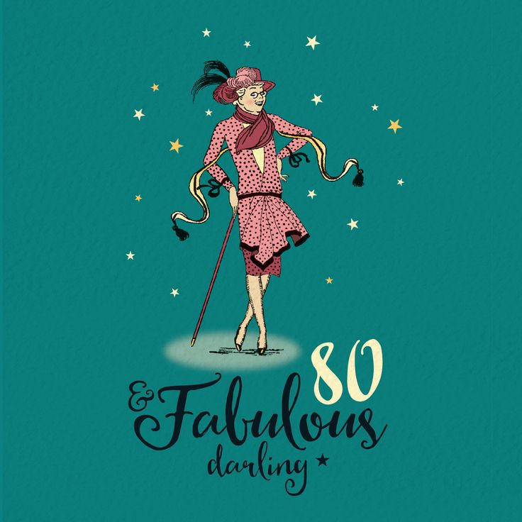 80th birthday card for her fabulous 80 80th birthday