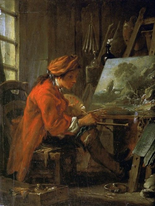 картины художника франсуа буше - 40  - автопортрет -