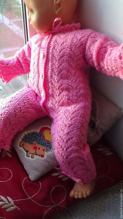 Одежда ручной работы. вязаный комбинезон для новорожденной девочки. Елена (alenka3). Ярмарка Мастеров. Для новорожденной, 40% шерсть