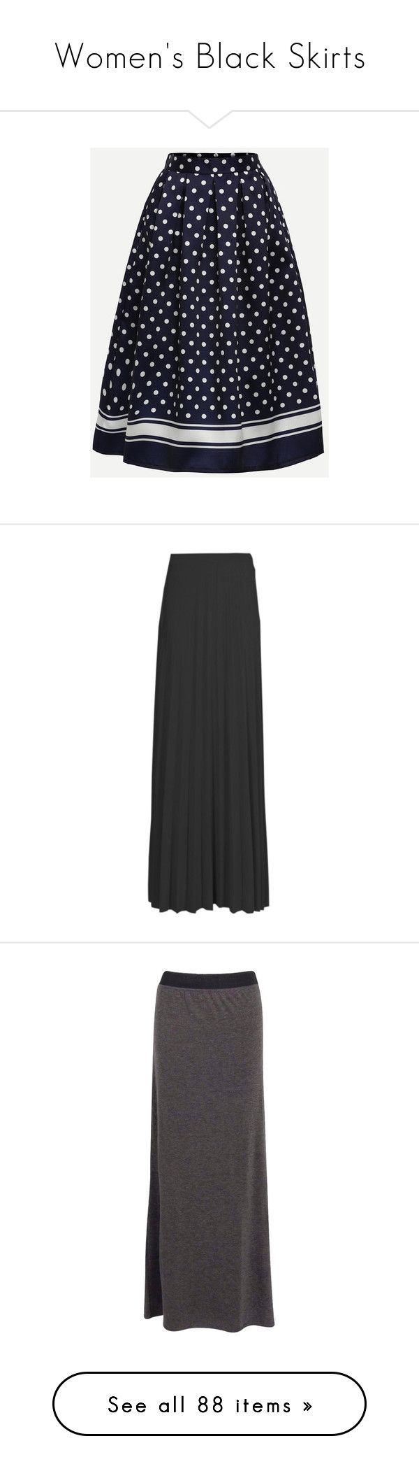 """Women's Black Skirts"" by eternalfeatherfilm on Polyvore featuring skirts, bodycon maxi skirt, maxi skirt, pleated maxi skirt, pleated skirt, long pleated skirt, midi maxi skirt, long bodycon skirt, jersey maxi skirt and bottoms"
