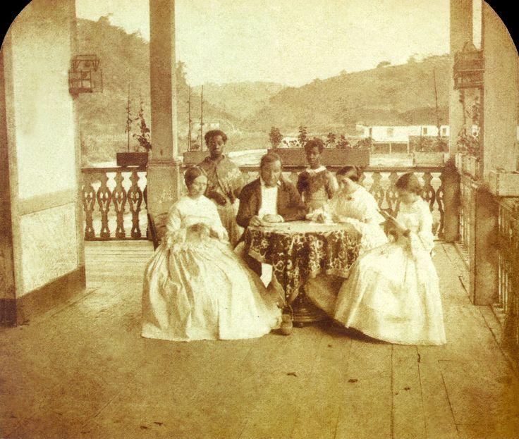 Família com escravas, 1860