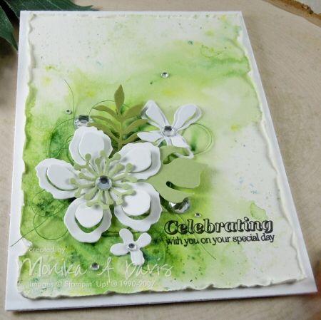 botanical blooms, watercolor, by Monika Davis