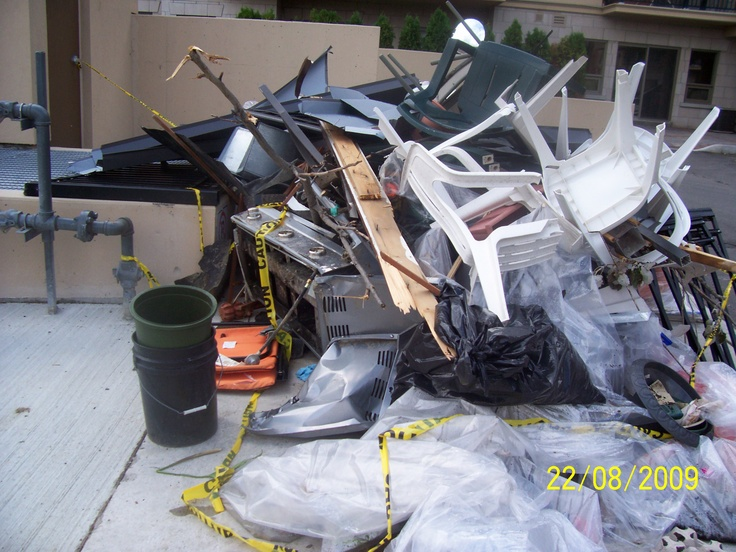 When Thunder storm hit Vaughan badly in 2009, Five Star Flood, Fire and Trauma Emergency Clean up company was there, Pictures taken by Bob www.5starcleaning.ca