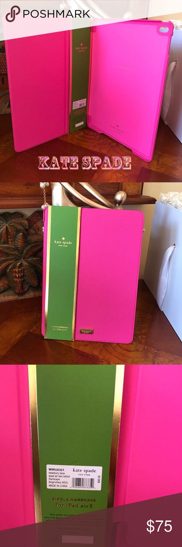 Kate spade iPad case Cute Bifold iPad Air 2 hot pink hard case. kate spade Accessories Laptop Cases