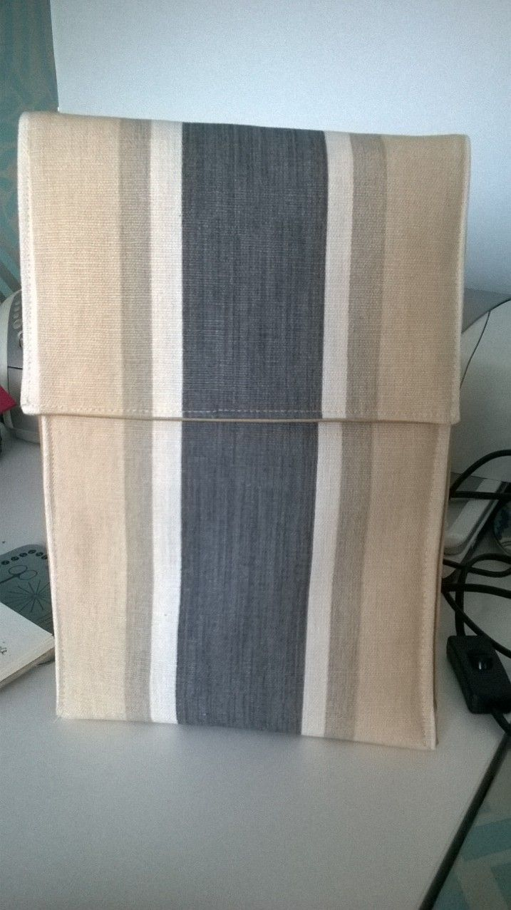Padded Tablet Cover in Laura Ashley striped fabric