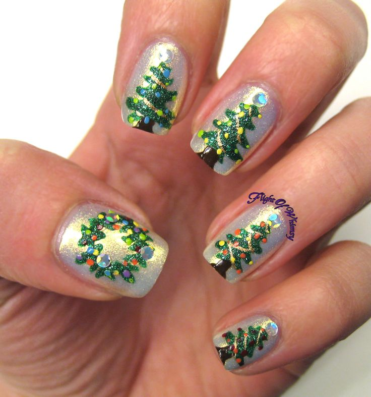 Christmas Nail Art Designs: Top 25 Ideas About Christmas Tree Nails On Pinterest