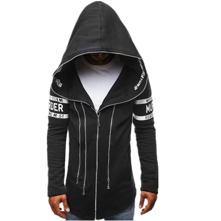 HD-DST 2016 new autumn and winter fashion men's hoodies casual slim fit cotton printing hooded coat