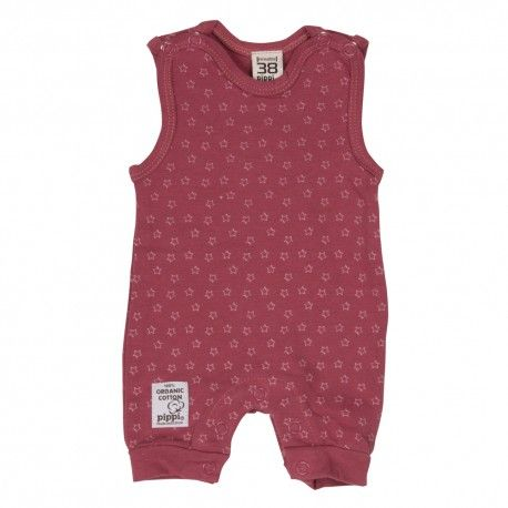 Romper without foot, sleeveless, hawthorn rose, Pippi
