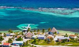 Groupon - 4- or 7-Night Stay for Two w/ Meals at Blackbird Caye Resort in Belize. Starting at $ 999 per Cabana; $499.50 per Person. in Turneffe Atoll, Belize. Groupon deal price: $999