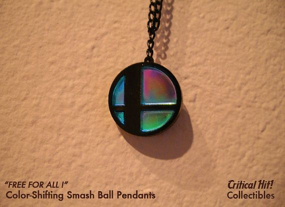 Color Shifting Smash Ball - video game jewelry nerd gifts yoshi zelda mario super smash bros on Etsy, $16.00