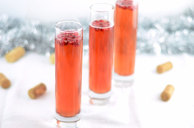 """Pomegranate Champagne Cocktail  from """"Girl Makes Food"""""""