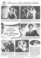 Ponds Skin Care 1939 Ad. Britain's Titled Ladies cream Extra Skin-Vitamin into their skin. The Lady Ursula Stewart, sister of the Earl of Shrewsbury. The Lady Betty Bourke, daughter of the Earl and Countess of Mayo. The Lady Alexandra Haig, daughter of the late Earl Haig, Britain's famous military figure. The Lady Grenfell, snapped at Ascot. Lady Morris. Pond's Extract Company.