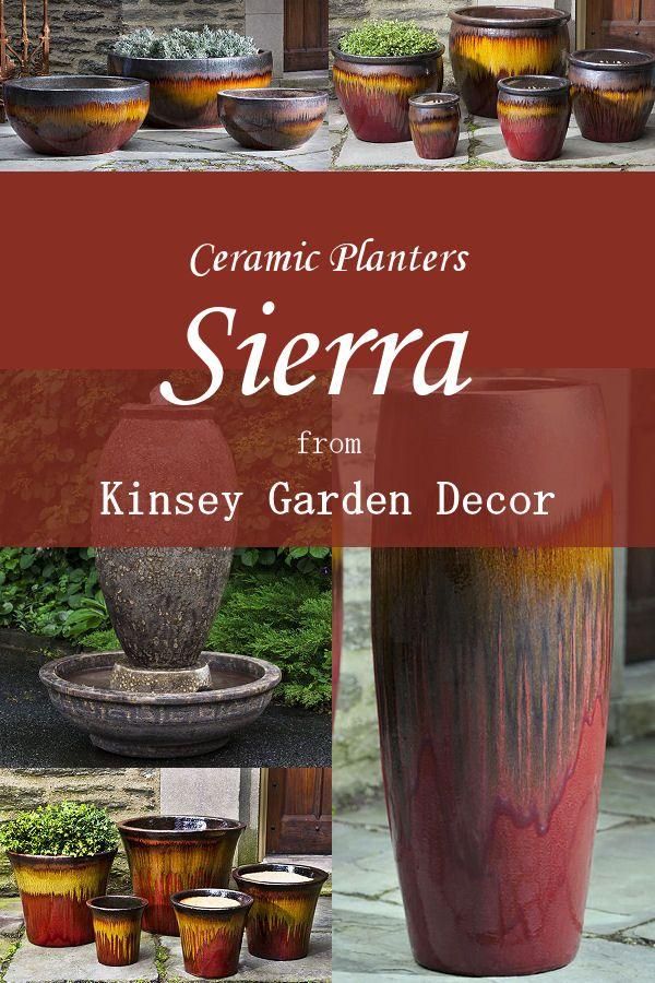 Kinsey Garden Decor Ceramic Plant Pots Sierra Indoor Outdoor Art