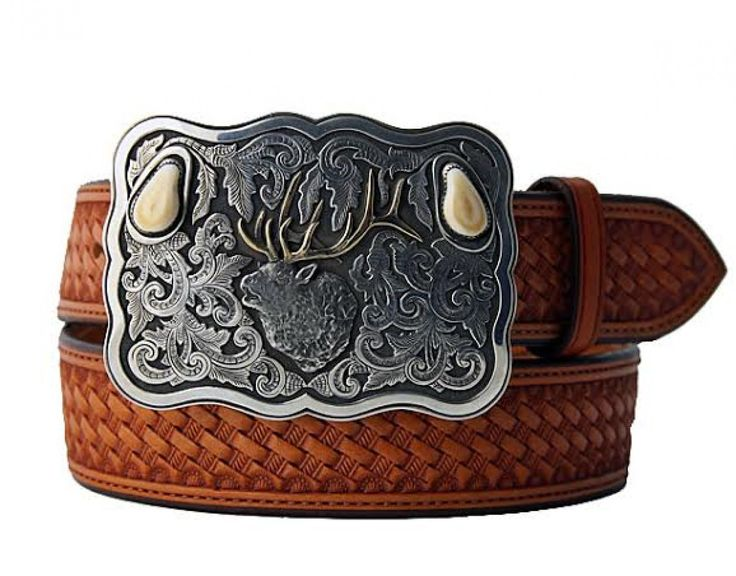 Elk Ivory Belt Buckle | Trophy Belt Buckle | Tom Taylor