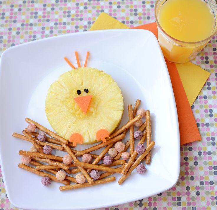 Easy Food Art Kix birdie snack