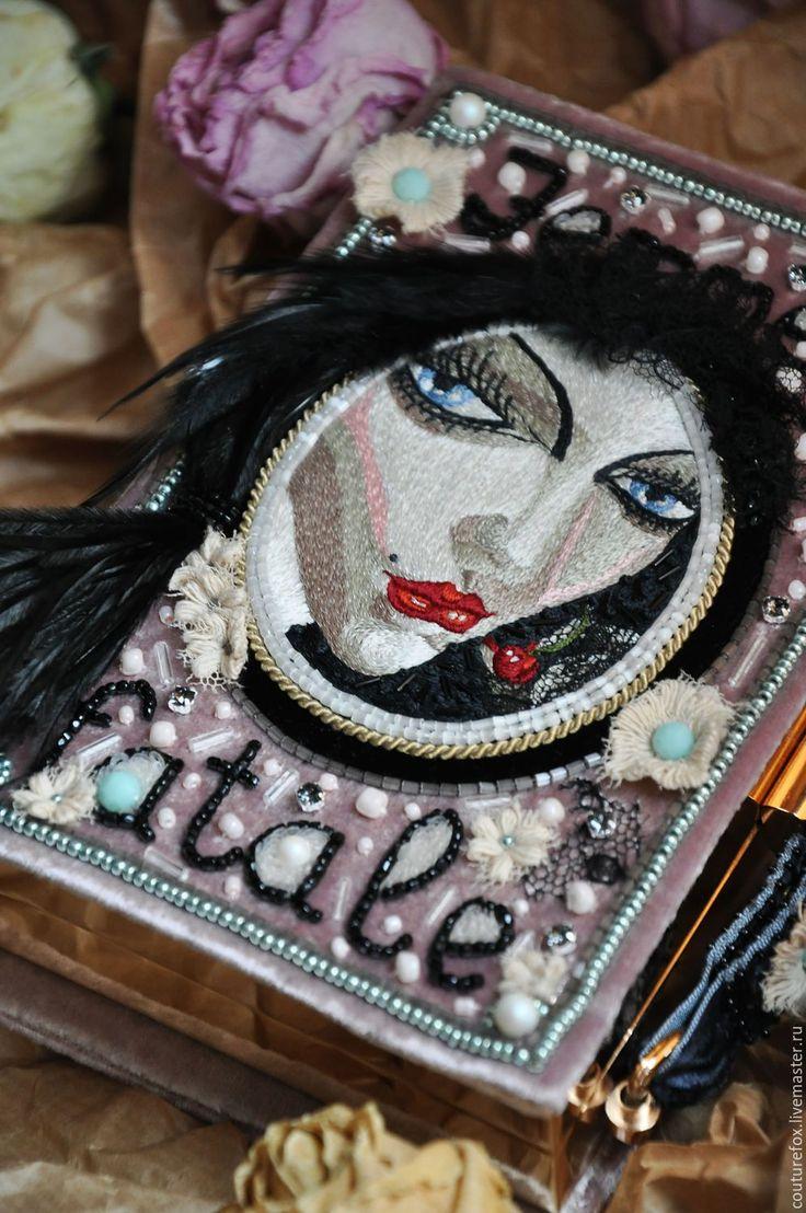 """Купить Клатч-книга """"Роковая женщина"""" - пастельно розовый, пыльная роза, клатч-книга"""